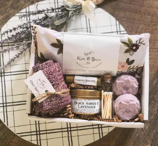 Spa Gift Box • Self Care Box • Pampering Gift • Lavender eye pillow • Sleep Relax • Get well soon • New Mom • Birthday • Pamper Yourself