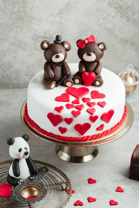 Teddy bears fondant cake