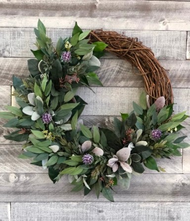 The best Thanksgiving wreath for front door Greenery Wreath for Front Door
