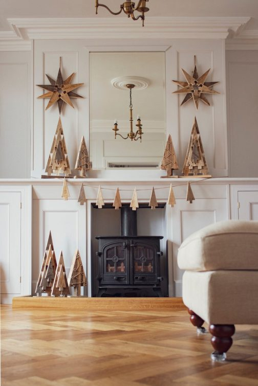 Timeless wooden Scandinavian Christmas star
