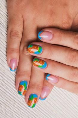 Tropical summer nails design