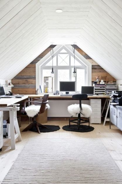 Turn your attic into a modern and cozy office