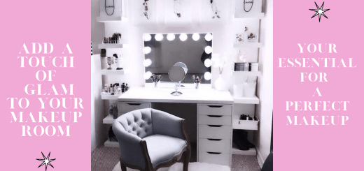 Vanity mirror with lights and desk that every woman should have