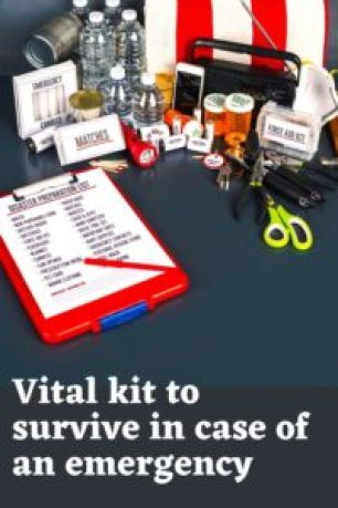 Vital kit to survive in case of an emergency