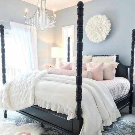 White juju hat for bedroom decor