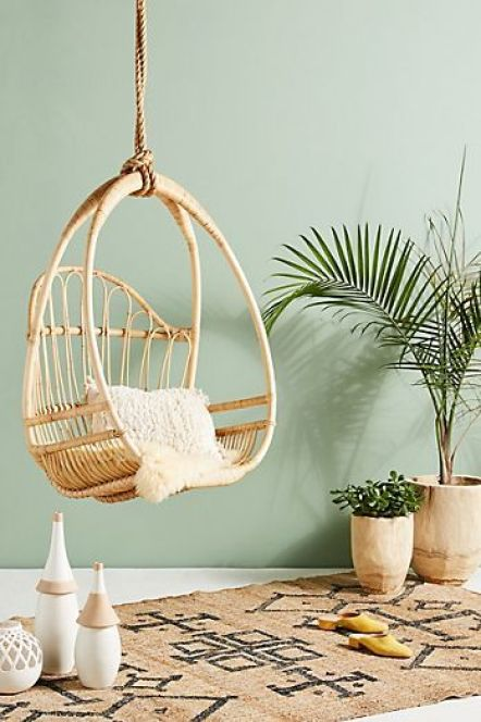 anthropologie ceiling hanging chair.