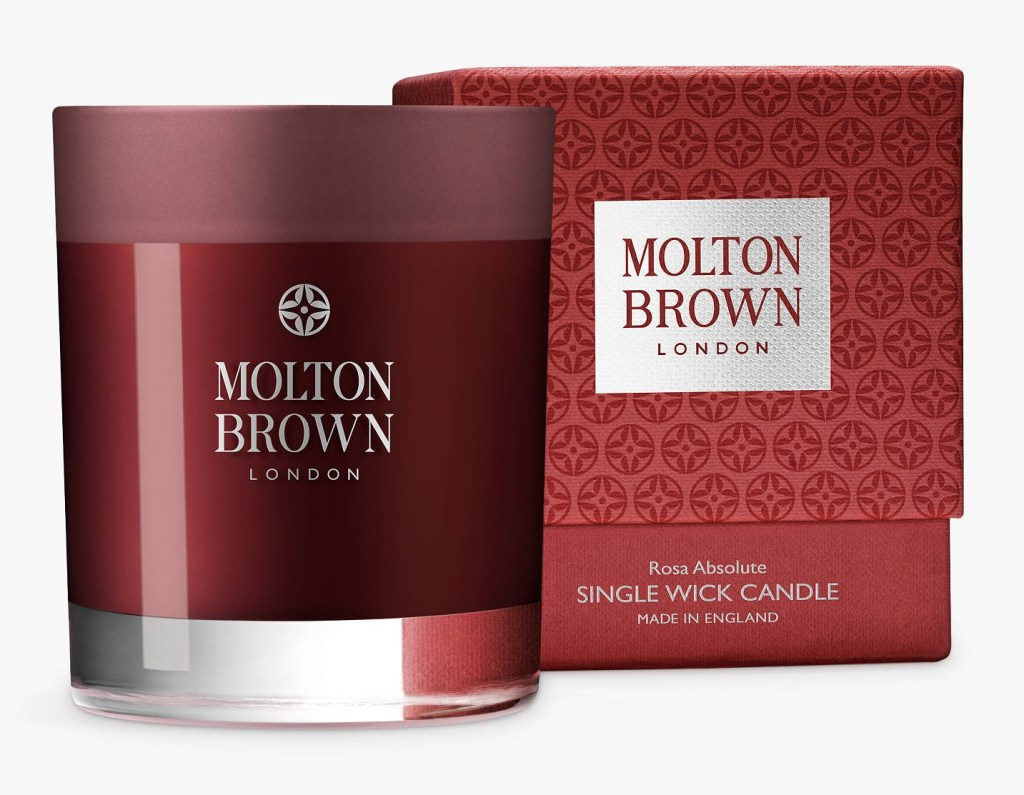 blackcurrant and rose fragranced candle from melton brown london