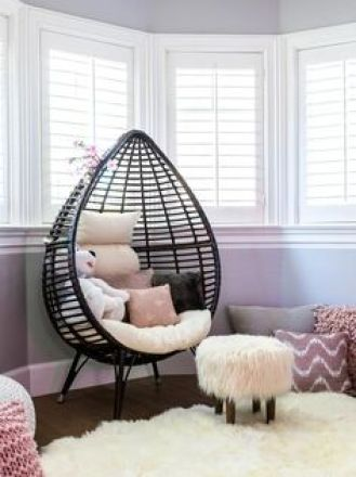black rattan egg chair for home decor