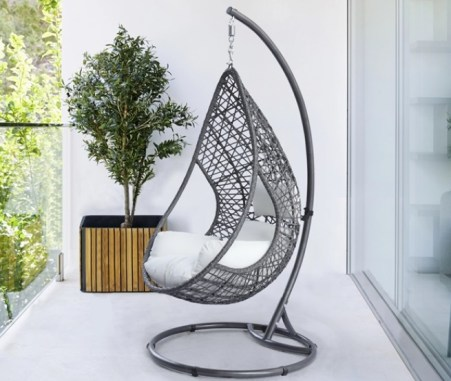 elegant hanging chair for meditation. Elegant swinging chair for glam decor