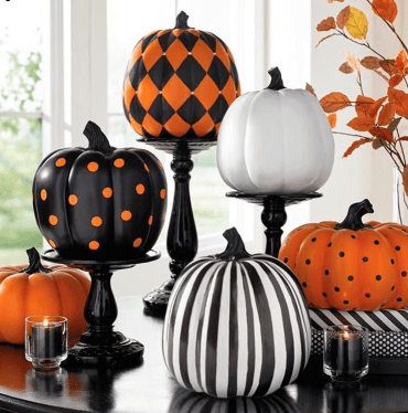 glam pumpkin decor ideas. No carve pumpkin decor ideas