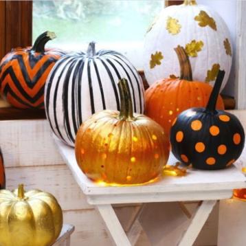 glitter pumpkin ideas for halloween