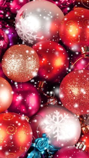 Globe ornaments Christmas wallpaper for smartphone and tablet