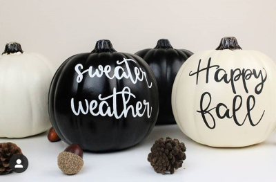happy fall painted pumpkins decor ideas. no carve pumpkin fall decor ideas