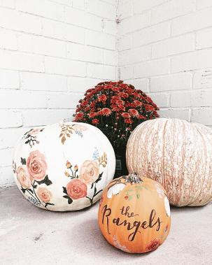 no carving painted pumpkin