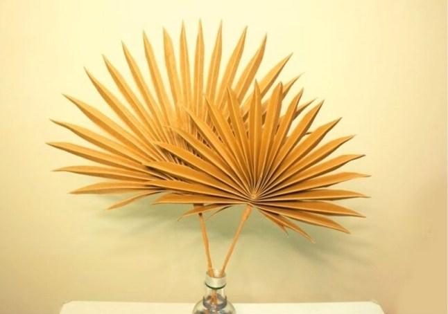 DIY paper palm leaves step by step. palm leaf  tutorial step by step