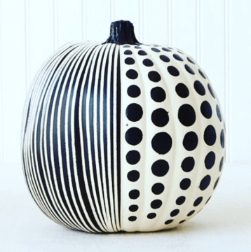 polka dot painted pumpkin ideas