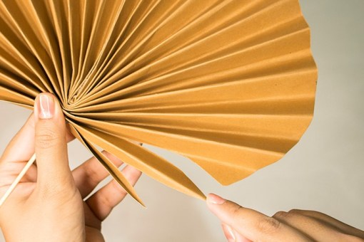 simple paper leaves tutorial