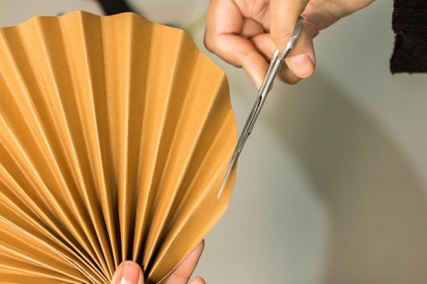 step five to make paper pal leaves