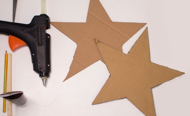 step two for making a star tray
