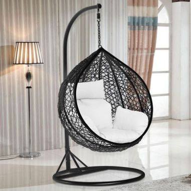 super elegant egg chair. luxury rattan egg chair