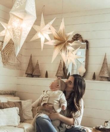 Scandinavian paper star wit led lights