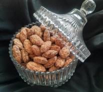 Almonds in vintage table jar