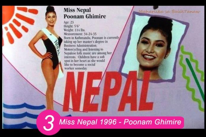 Miss Nepal 1996 – Poonam Ghimire