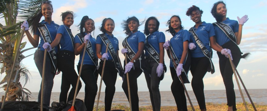 Miss Earth Guyana 2019 Finalists set for National Beach Clean-Up!