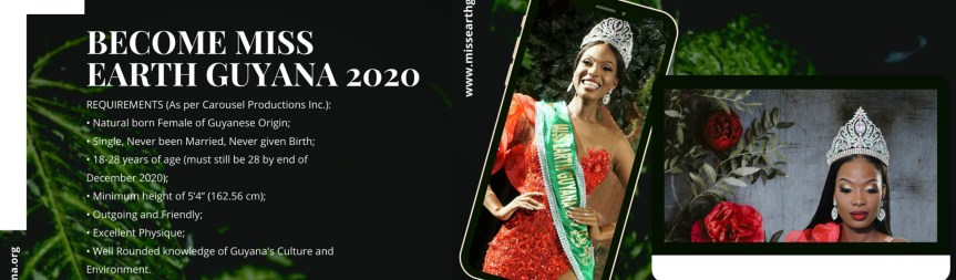 The Search is on for Miss Earth Guyana 2020!