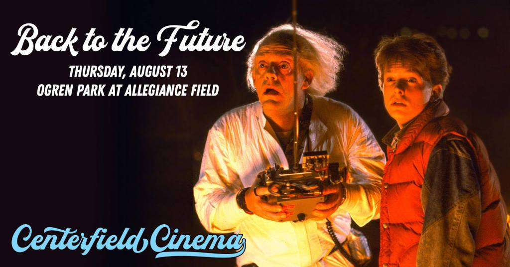 Back to the Future at Centerfield Cinema at Ogren Park in Missoula Montana