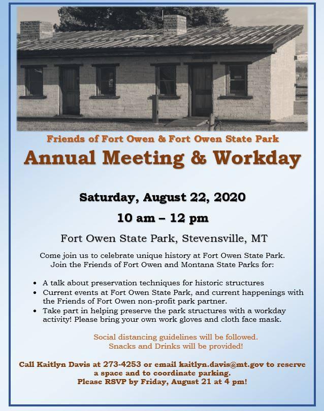 Friends of Fort Owen & Fort Owen State Park - Stevensville Montana