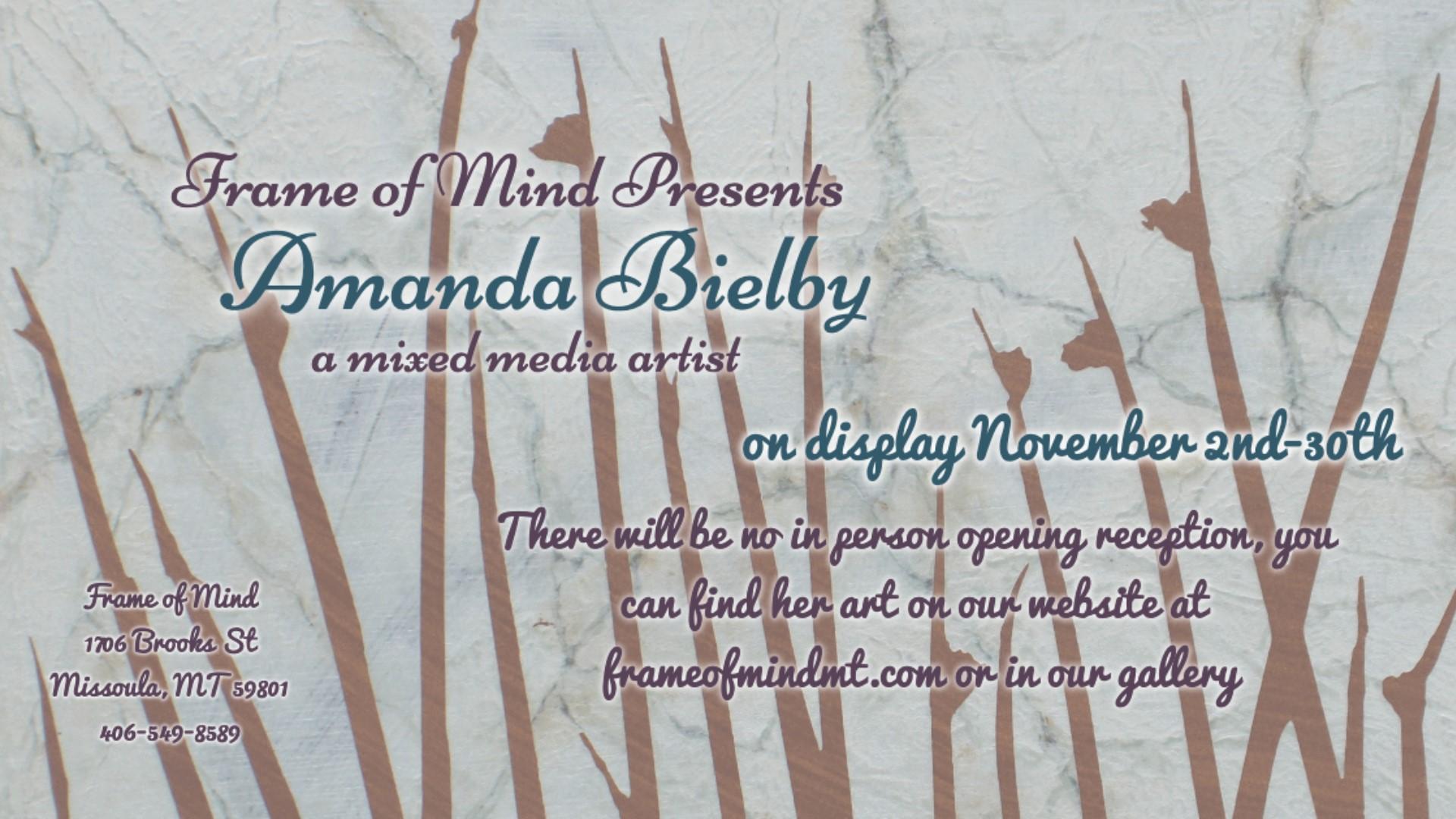 Frame of Mind presents Amanda Bielby