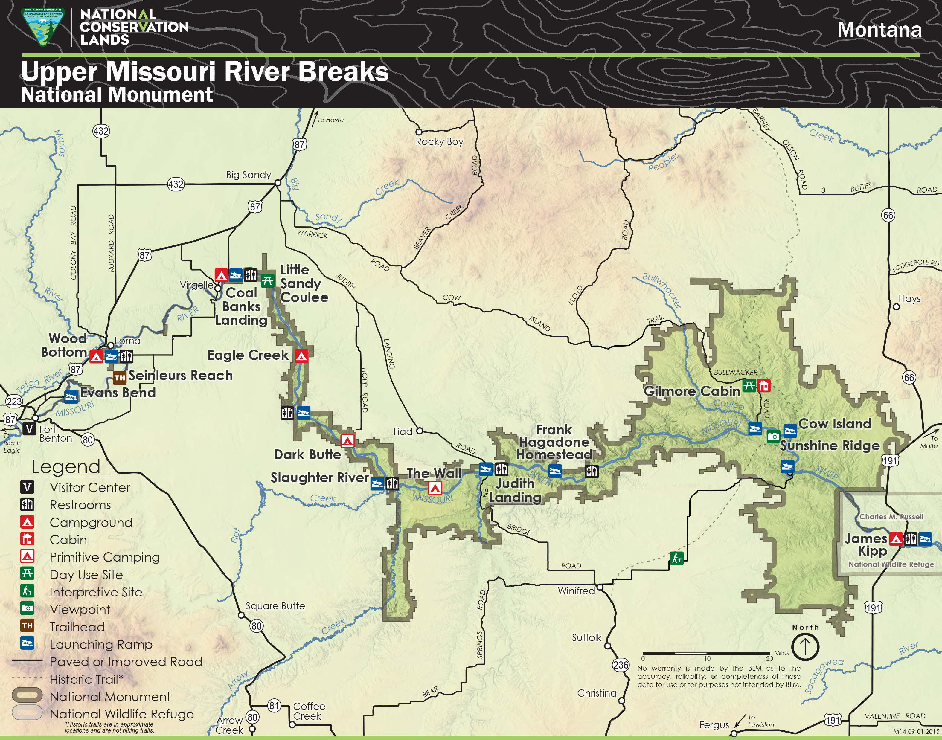 Missouri Map With Rivers.Visiting The Breaks Friends Of The Missouri Breaks Monument
