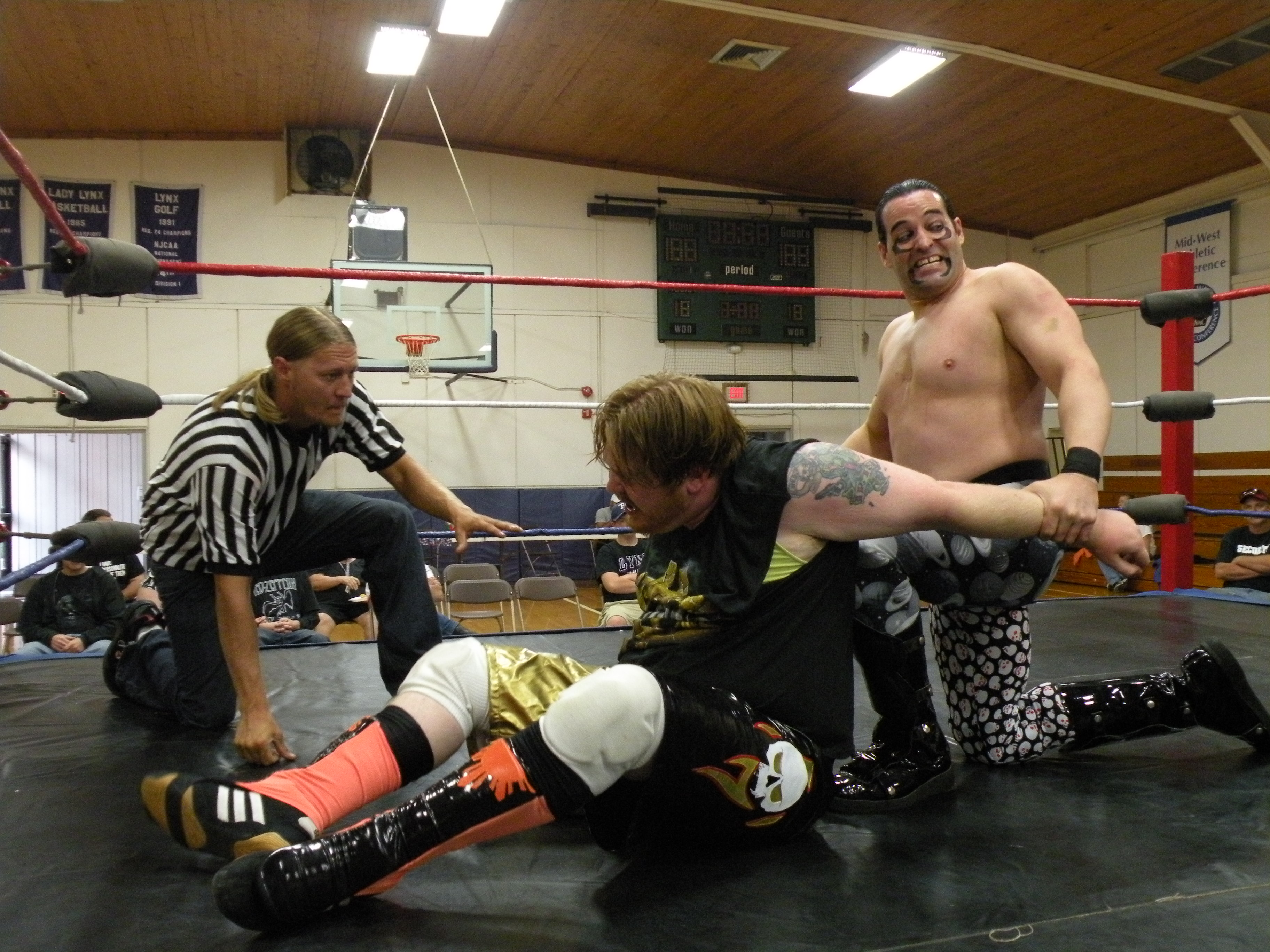 """Dirge continued to bring the pressure.(Photo Credit Brian """"Flair"""" Kelley)"""