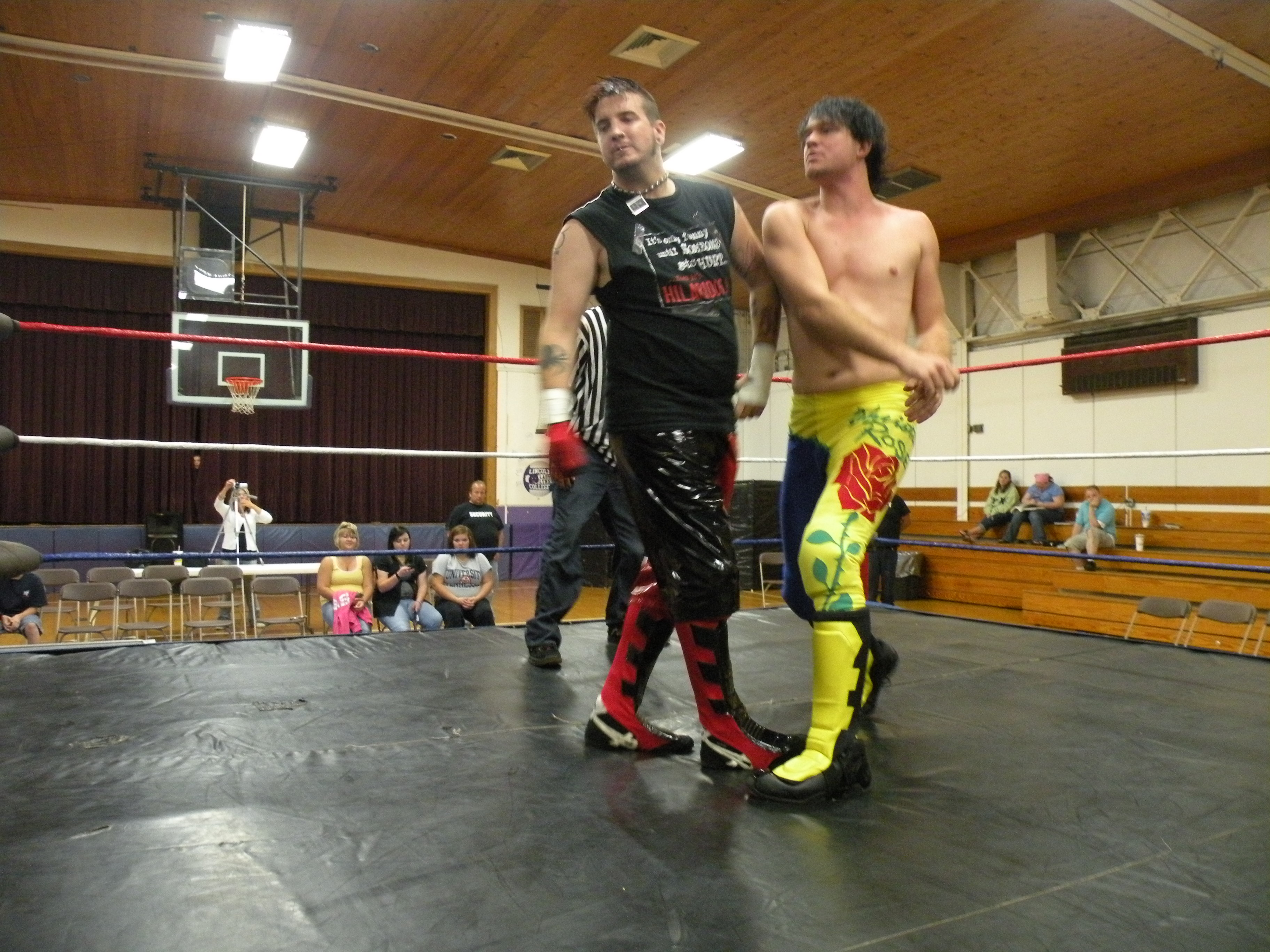 """Christian Rose rocks Johnathan Napier in the middle of the ring.(Photo Credit Brian """"Flair"""" Kelley)"""