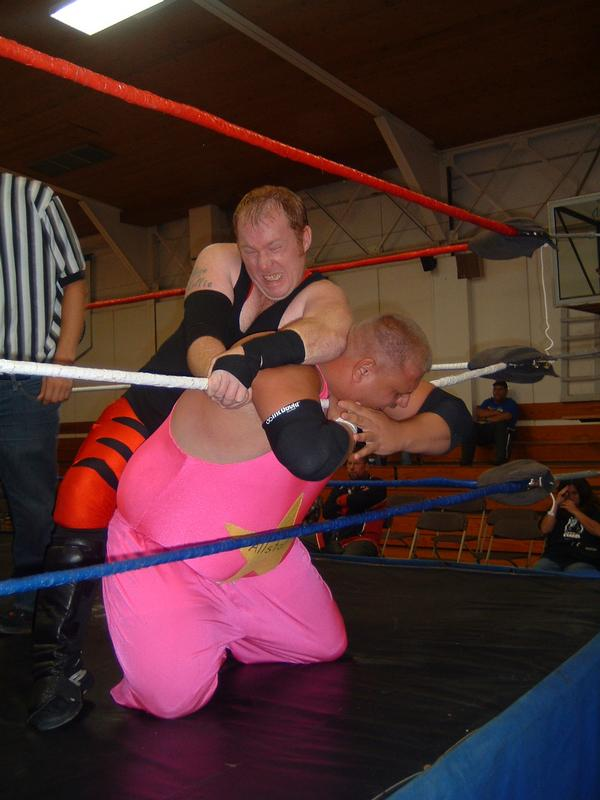 """Jaxson Pride pulled out all the nasty moves to defeat Rex Gill. (Photo Credit Brian """"Flair"""" Kelley)"""