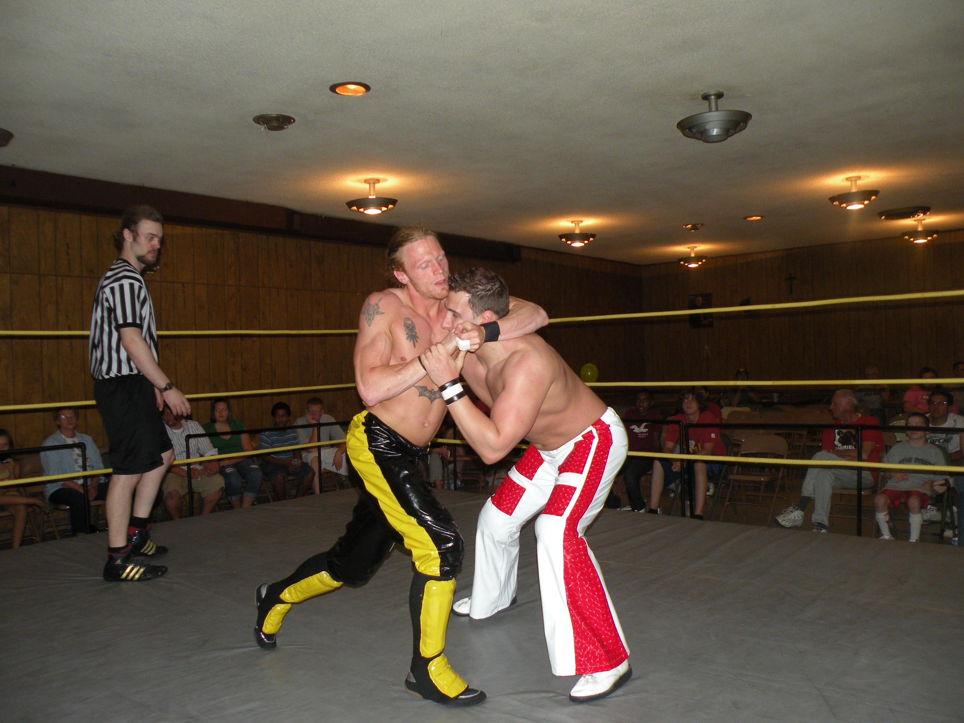 "The ""Unbreakable"" Zach Thompson slows down Jordan McEntyre (Photo Credit Brian ""Flair"" Kelley)"