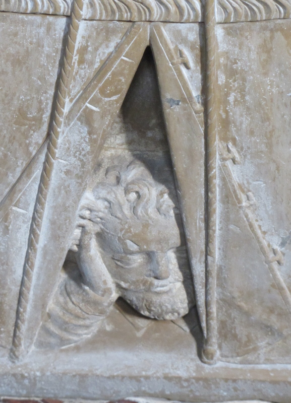 Detail of a marble sarcophagus