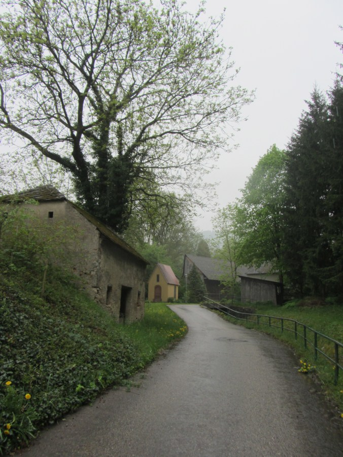 Cellars along the road