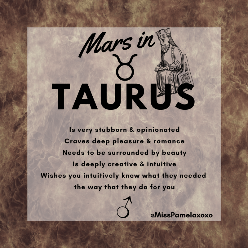 Mars in Taurus Man or Woman - MissPamelaxoxo