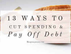 Cut spending to pay off debt