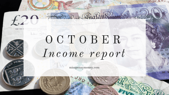 October Income Report – Miss Penny Money