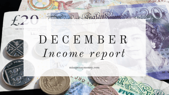 December Income Report – Miss Penny Money