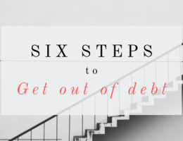 Six Steps to Get Out of Debt