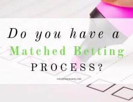 matched betting process