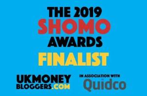 Best New Money Blog Finalists 2019 badge