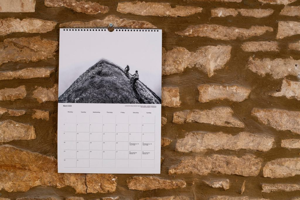 Cycling calendar 2020. Mountain bike calendar 2020