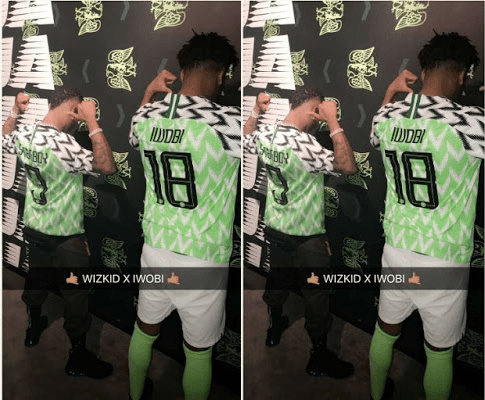d6aede2542d Wizkid and Alex Iwobi unveil the new Super Eagles Jersey – Miss ...