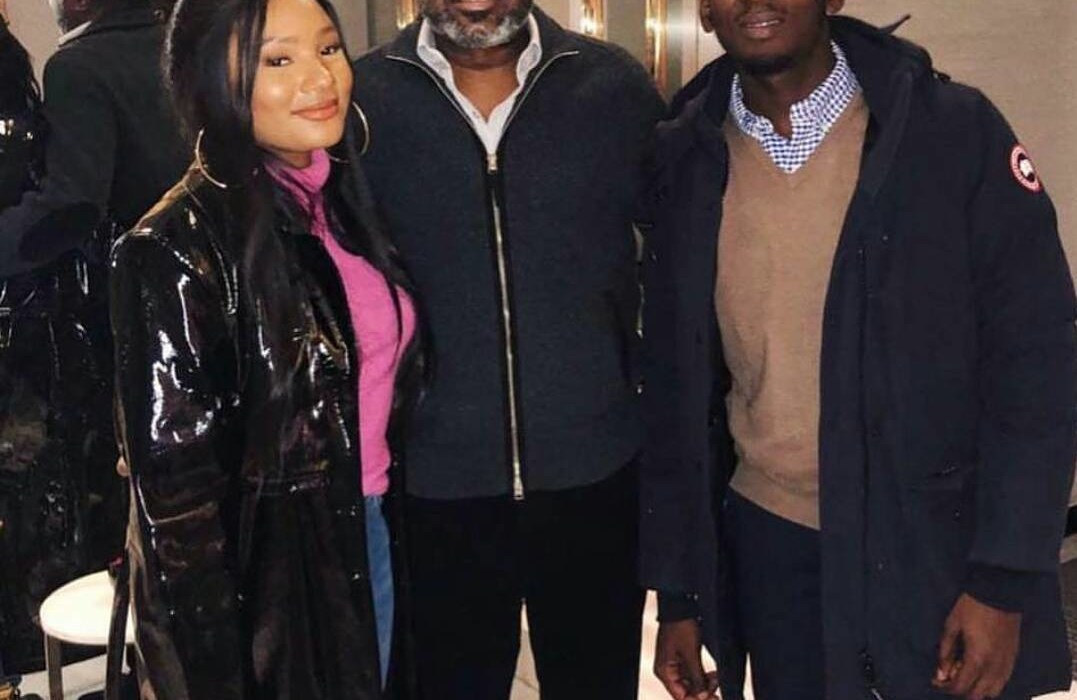 Mr Eazi pictured with girlfriend and her billionaire dad,Otedola