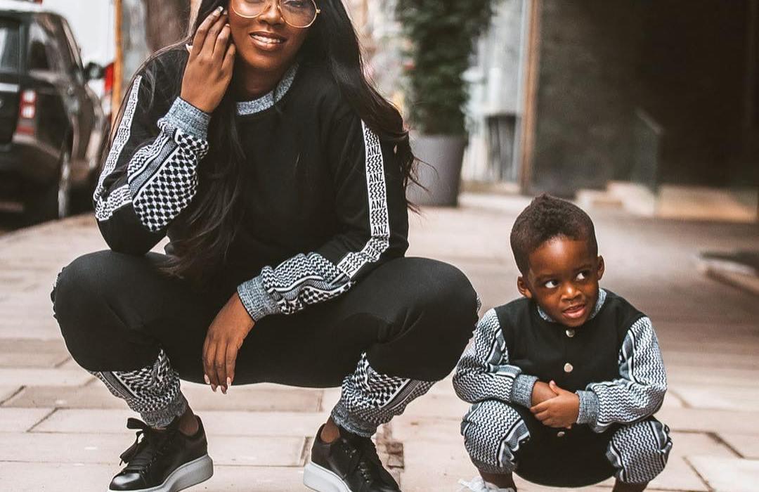 Tiwa Savage and son Jamil rock matching outfits